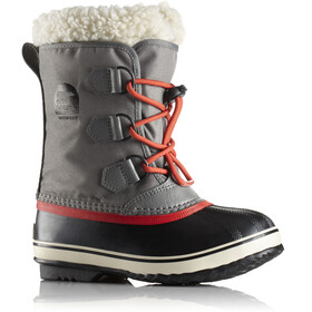 Sorel Yoot Pac Nylon Boots Youth Quarry/Sail Red